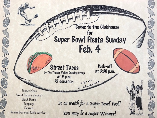 Super Bowl Tail Gate Party, football pool — Sun , Feb  4