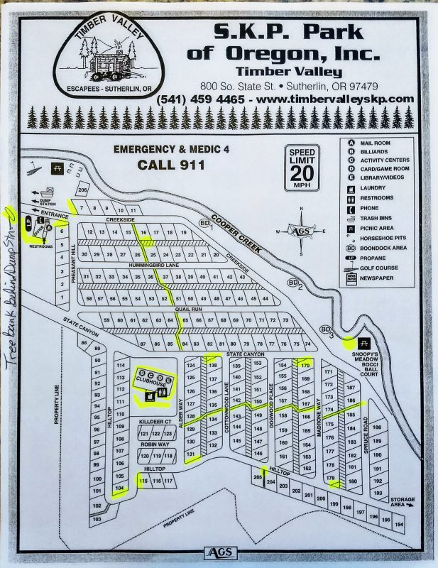 Yellow = Greenspaces Available for Adoption